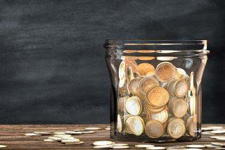 Foto: Münzen im Glas